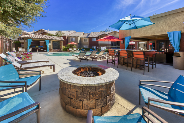 fire pit at Allure at Tempe Apartments