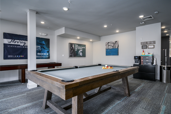 game room at The Rocks Apartments