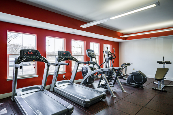 fitness center at The Rocks Apartments