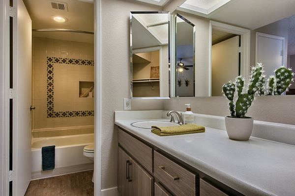 bathroom at Avana at the Pointe Apartments