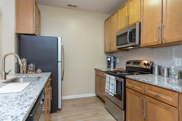 kitchen at Plaza Square Apartment