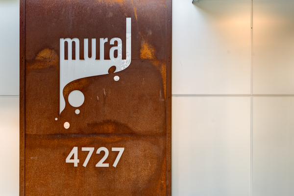 signage at Mural Apartments