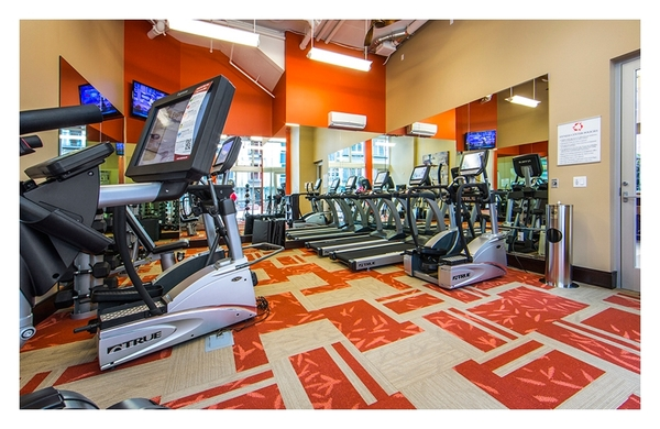 fitness center at Koi Apartments