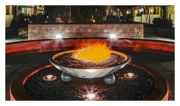 fire pit at Koi Apartments