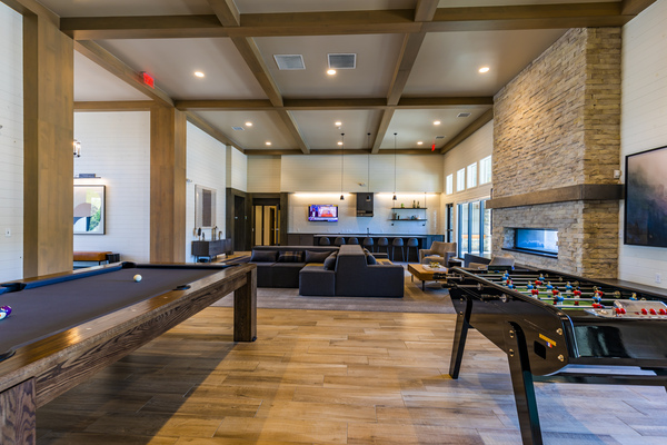 game room at The Tenzing Apartments