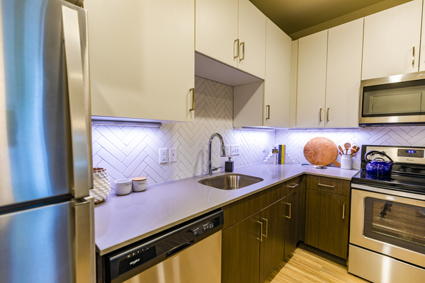 kitchen at The Tenzing Apartments