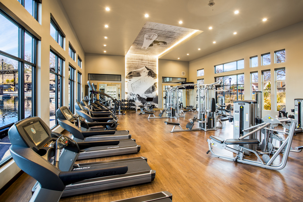 fitness center at Solana Olde Town Station Apartments