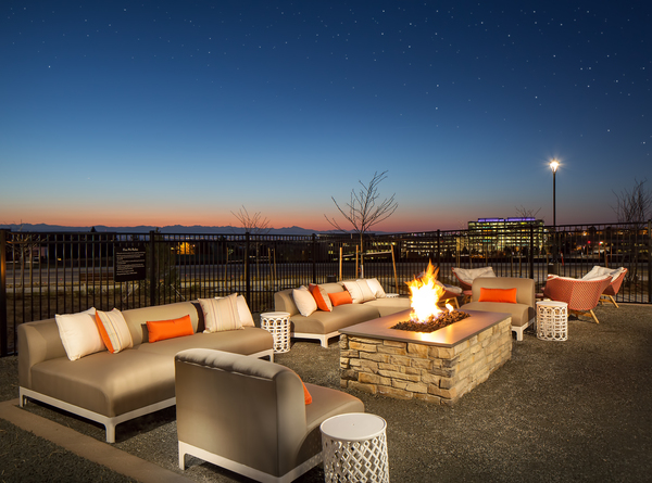 fire pit at The Glenn Apartments