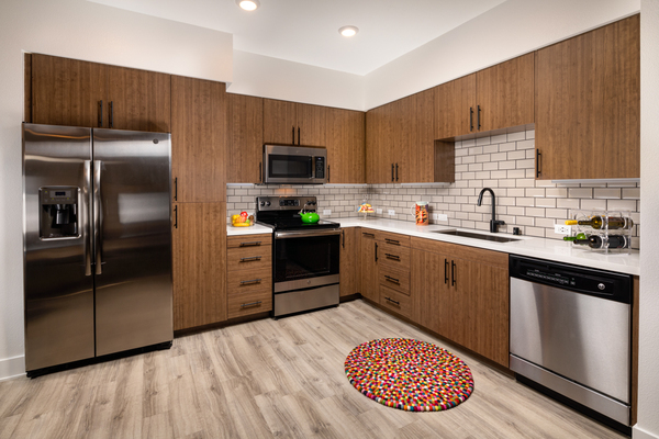 kitchen at Clarendon Apartments