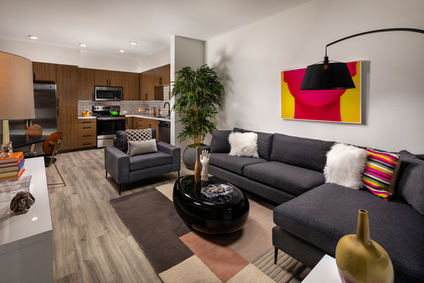 living room at Clarendon Apartments