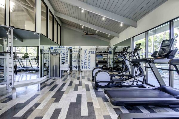 fitness center at Solana at Grand Apartments