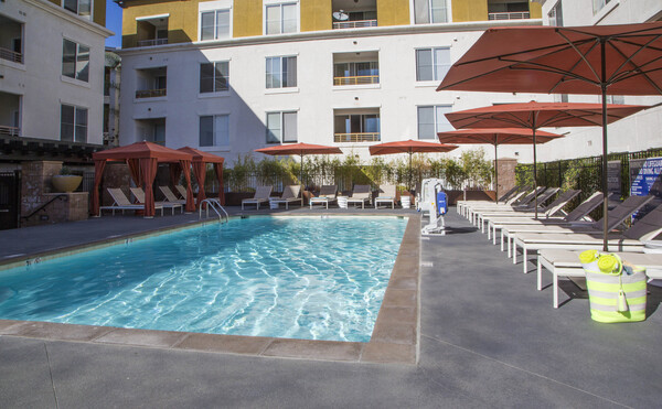 pool at The Pointe at Warner Center Apartments