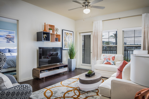 living room at Sanctuary at West Port Apartments