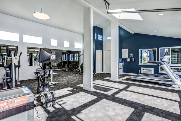 fitness center at Avana Almaden Apartments