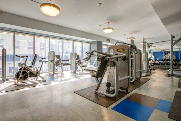 fitness center at Argenta Apartments