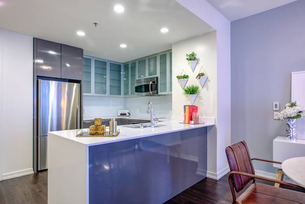 kitchen at Argenta Apartments