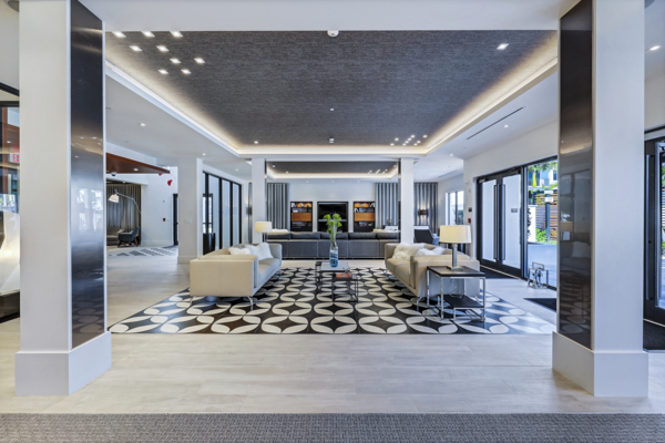 clubhouse/lobby at Pacifica Apartments