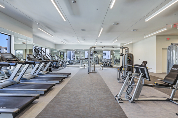 fitness center at Pacifica Apartments