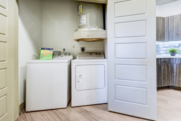 laundry room at Infinity at the Rim Apartments