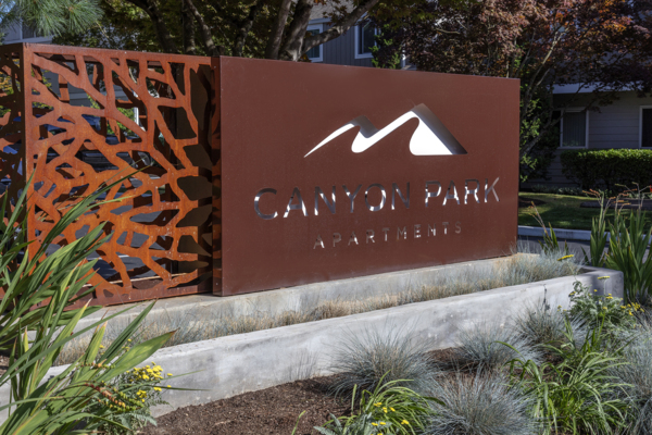 signage at Canyon Park Apartments