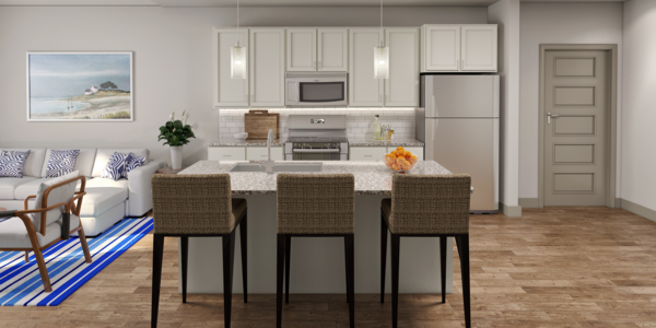 kitchen at The Residences at Pearl Point Apartments