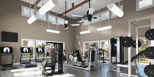fitness center at The Residences at Pearl Point Apartments
