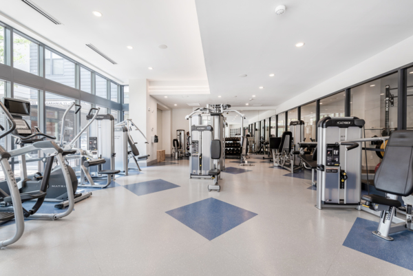 fitness center at West of Chestnut Apartments