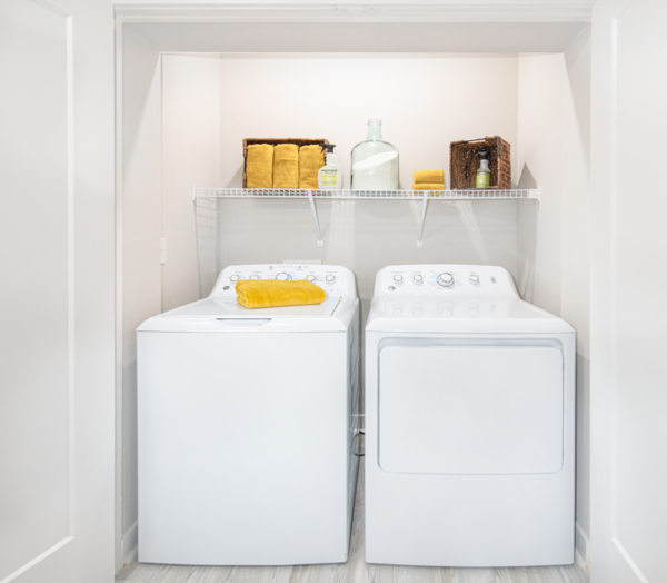 laundry room at Aventon Park West Apartments