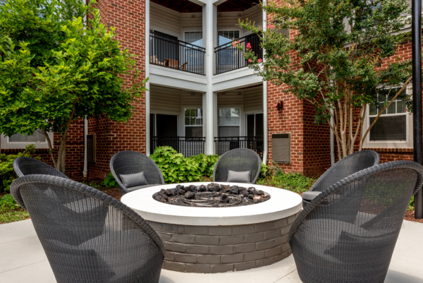 fire pit at Ashton at Dulles Corner Apartments