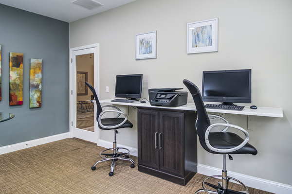 business center at Avana Druid Hills Apartments