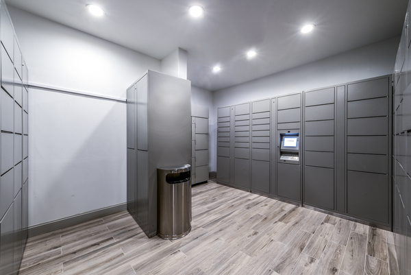 mail room/parcel pickup at Ashton at Dulles Corner Apartments