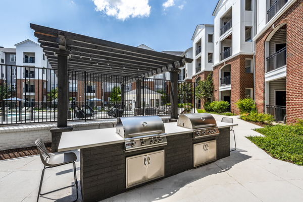 grill area at Ashton at Dulles Corner Apartments