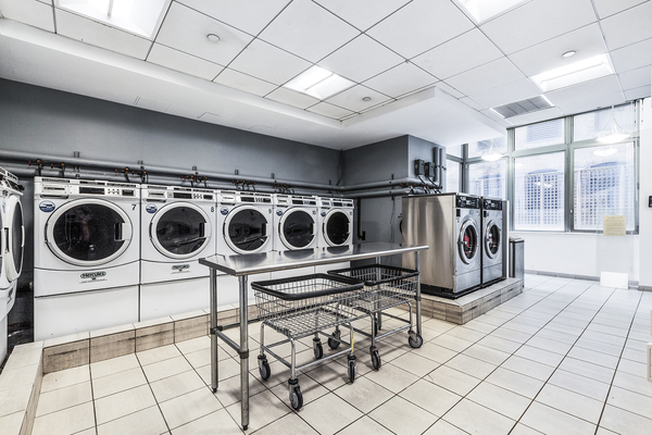 laundry facility at 800 Sixth Apartments