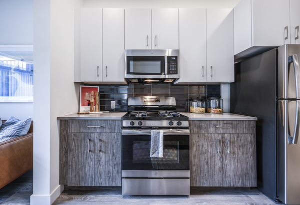 kitchen at Elan Union Market Apartments