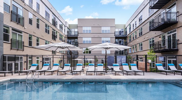 pool at Elan Union Market Apartments