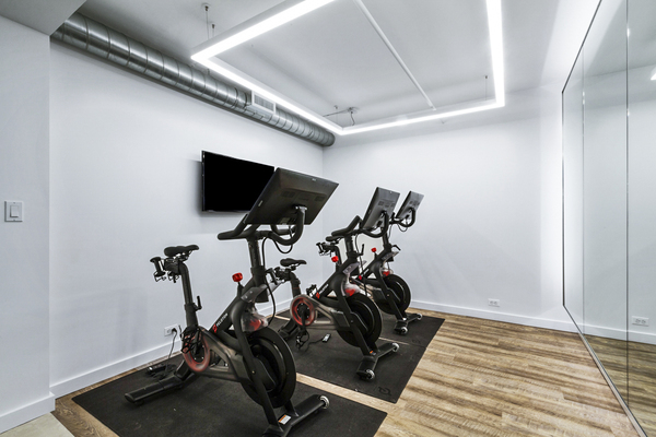 yoga/spin studio at The Chelsea Apartments