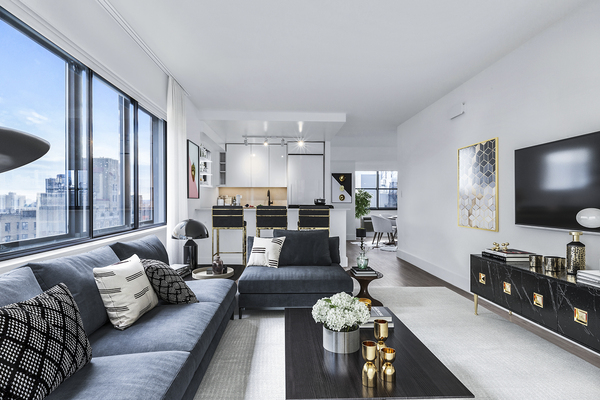 living room at The Chelsea Apartments
