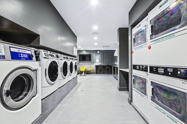 laundry facility at The Chelsea Apartments