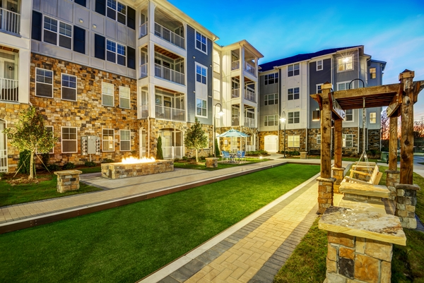 courtyard at Element South Apartments
