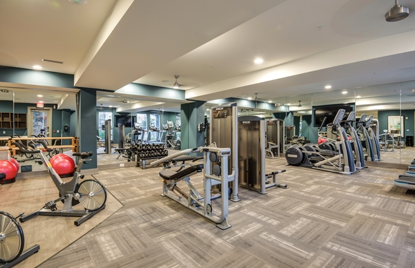 fitness center at Element South Apartments