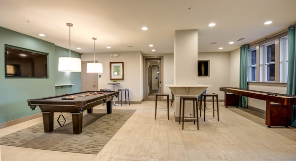 game room at Element South Apartments
