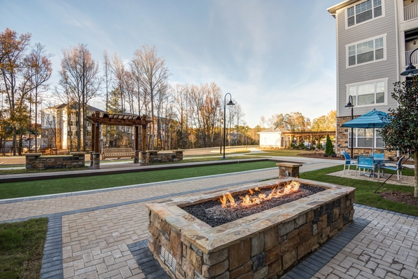 fire pit at Element South Apartments