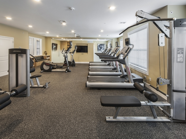 fitness center at 221 Bergen Apartments