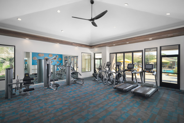 fitness center at Adobe Ridge Apartments