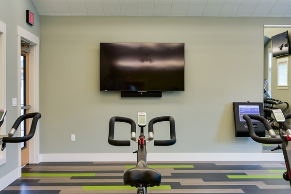 fitness room at The Bailey at Amazon Creek Apartments