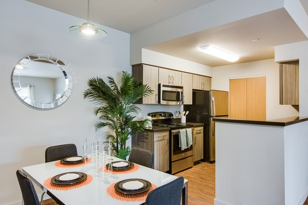 kitchen at The Bailey at Amazon Creek Apartments
