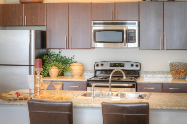 kitchen at Avana on the Platte Apartments