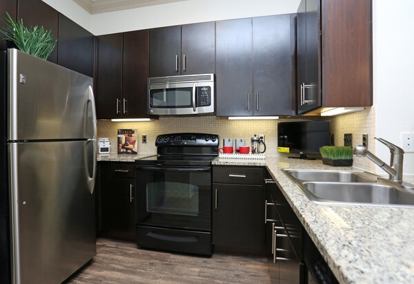 kitchen at Braeswood Place Apartments