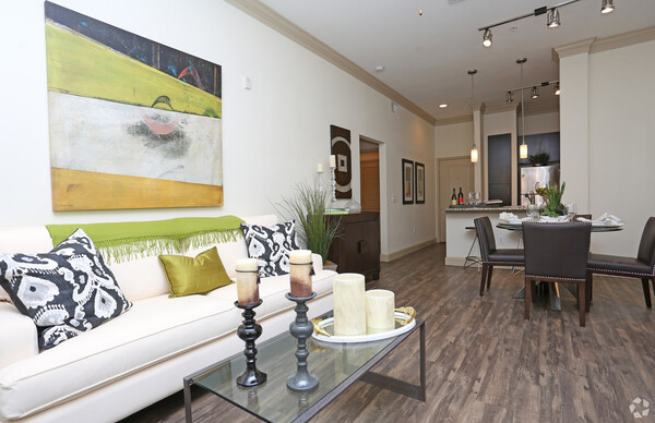 living room at Braeswood Place Apartments