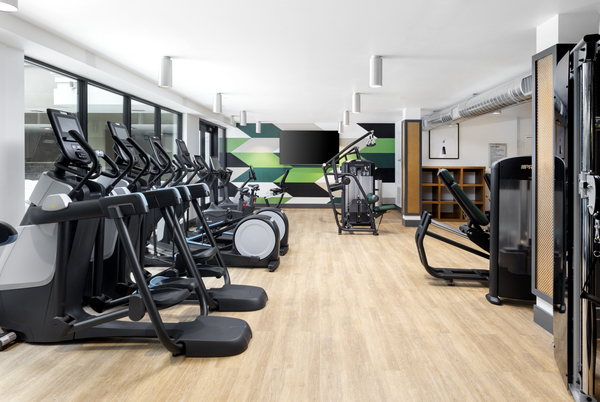 fitness center at 7403 Apartments